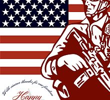 Veterans Day Modern American Soldier Card by patrimonio