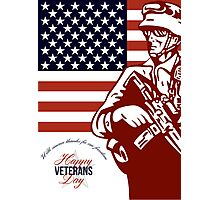 Veterans Day Modern American Soldier Card Photographic Print