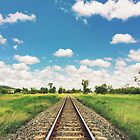 Rockhampton Train Tracks by Sam Frysteen