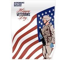 Modern American Veteran Soldier Greeting Card Poster