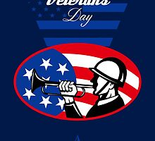 Modern Veterans Day American Soldier Greeting Card by patrimonio