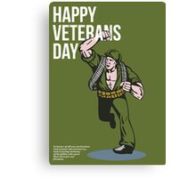 World War two Veterans Day Soldier Card Canvas Print