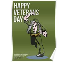 World War two Veterans Day Soldier Card Poster