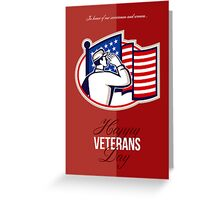Veterans Day Modern American Soldier Card Greeting Card