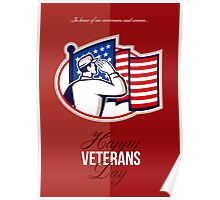 Veterans Day Modern American Soldier Card Poster