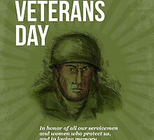 World War two Veterans Day Soldier Card Sketch by patrimonio