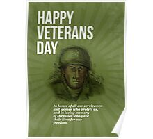 World War two Veterans Day Soldier Card Sketch Poster