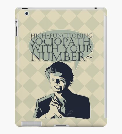 High-Functioning Sociopath. iPad Case/Skin