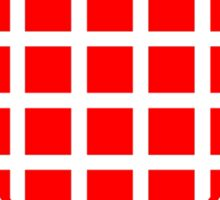 Red Squares Heart Sticker