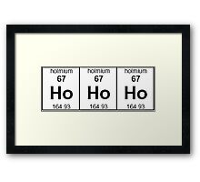 Ho Ho Ho - Christmas in elements Framed Print