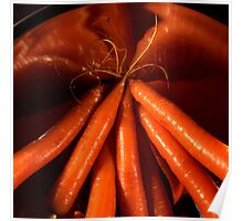 Tasty carrots in a colander  Poster