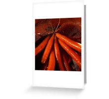 Tasty moist carrots in a colander Greeting Card