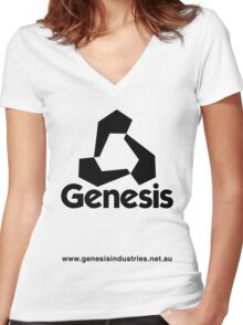 Genesis Shirt Women's Fitted V-Neck T-Shirt