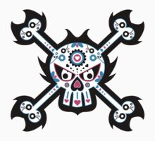 Mexican 'Day of the Dead' Skull Pattern Baby Tee