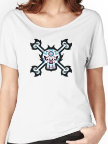 Mexican 'Day of the Dead' Skull Pattern Women's Relaxed Fit T-Shirt