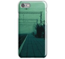 Waiting for a train iPhone Case/Skin