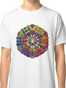 Mechanical Petal Rainbow Mandala Classic T-Shirt