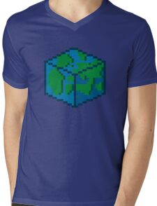 Pixel World Mens V-Neck T-Shirt