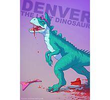 Denver the dinosaur Badass Photographic Print