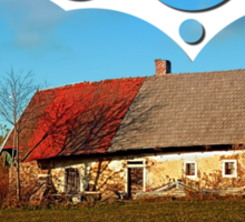 Old abandoned farmhouse   architectural photography Sticker