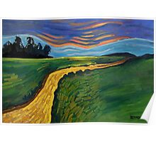 A Dirt Path One Evening in Life Poster