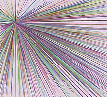 Line Explosion - Light Pink by Chris Davies