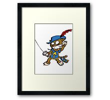 Cat : musketeer (chat mousquetaire) Framed Print