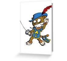 Cat : musketeer (chat mousquetaire) Greeting Card