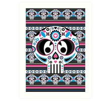 Mexican 'Day of the Dead' Skull Art Print