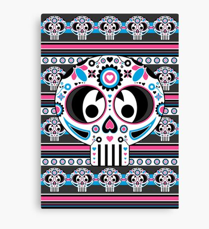 Mexican 'Day of the Dead' Skull Canvas Print