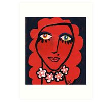 Scarlet Rihannon Art Print