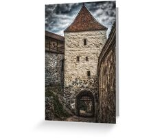Fortress Rasnov Greeting Card
