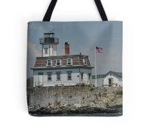 Newport Lighthouse Tote Bag