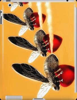 Heart Bee iPad Case by SuddenJim