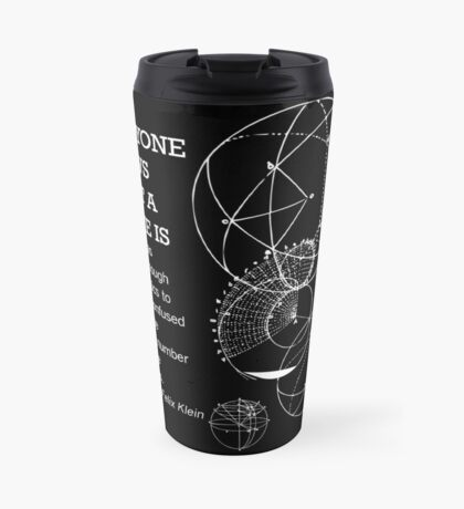 Math Quote Travel Mug