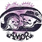 Viva el Amor Day of the Dead Valentine by craftyhag