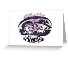 Viva el Amor Day of the Dead Valentine Greeting Card