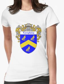 Tompkins Coat of Arms / Tompkins Family Crest Womens Fitted T-Shirt