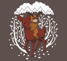 Deer Rider One Piece - Short Sleeve