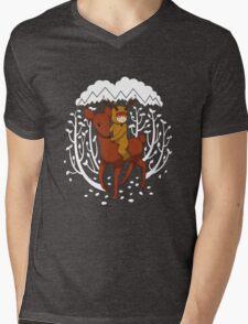 Deer Rider Mens V-Neck T-Shirt