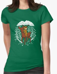Deer Rider Womens Fitted T-Shirt