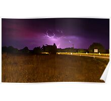 Lightning over Daylesford Poster