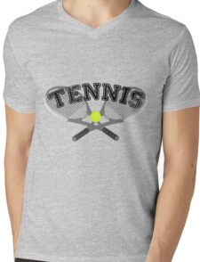 Tennis Rackets Mens V-Neck T-Shirt