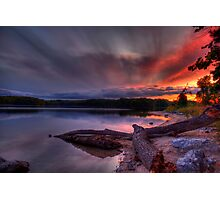 An evening at Lake of the Woods Photographic Print