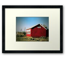 Little Red School House Framed Print