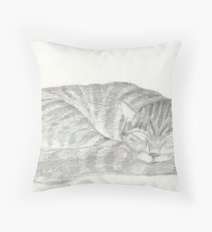 Apache sleeping Throw Pillow