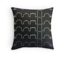 Simpsons Heartbeats Throw Pillow