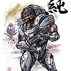 Grunt from Mass Effect Sumie Style by Mycks