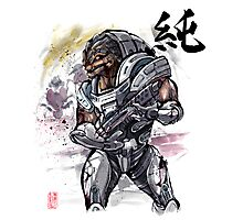 Grunt from Mass Effect Sumie Style Photographic Print