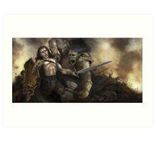 The Ogre Battle Art Print
